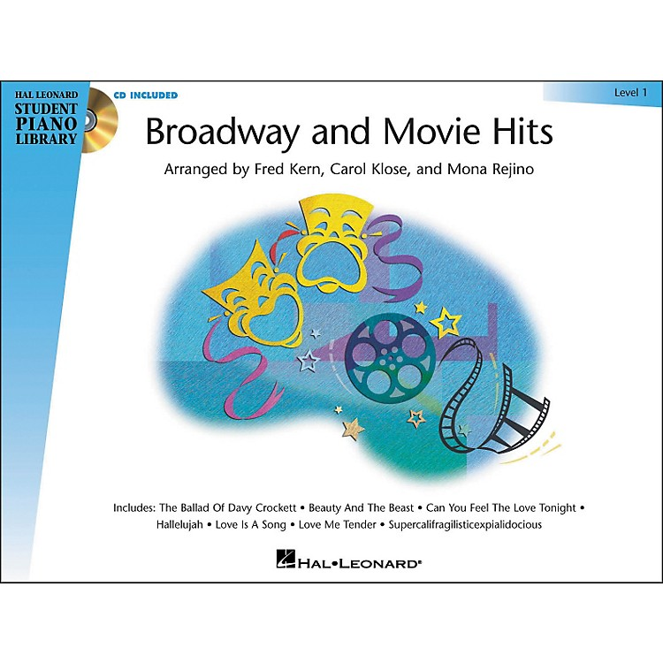Hal Leonard Broadway And Movie Hits Level 1 Book/CD Hal Leonard Student Piano Library