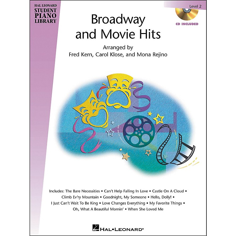 Hal Leonard Broadway And Movie Hits Level 2 Book/CD Hal Leonard Student Piano Library
