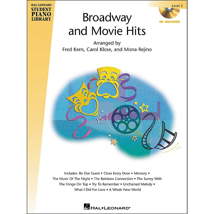 Hal Leonard Broadway And Movie Hits Level 3 Book/CD Hal Leonard Student Piano Library