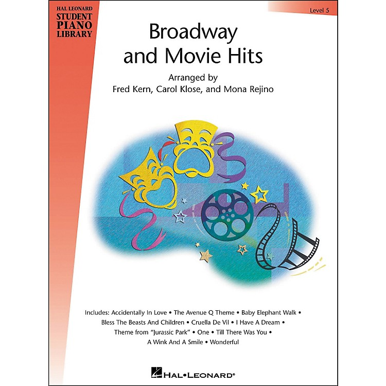 Hal Leonard Broadway And Movie Hits Level 5 Book Hal Leonard Student Piano Library