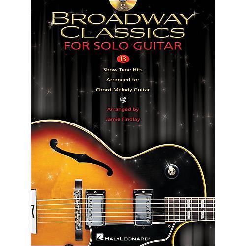 Hal Leonard Broadway Classics for Solo Jazz Guitar (Book/CD)-thumbnail