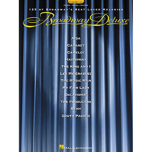 Hal Leonard Broadway Deluxe - Third Edition Piano, Vocal, Guitar Songbook-thumbnail