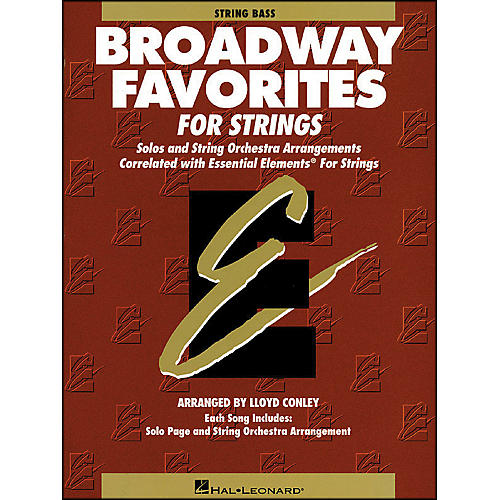 Hal Leonard Broadway Favorites for Strings String Bass Essential Elements-thumbnail