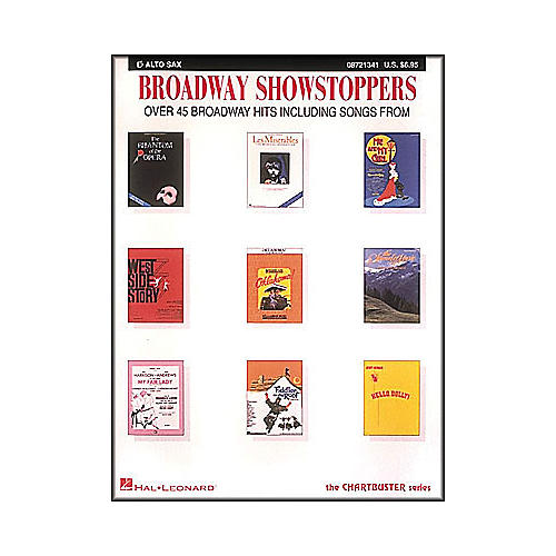 Hal Leonard Broadway Showstoppers for E Flat Alto Saxophone
