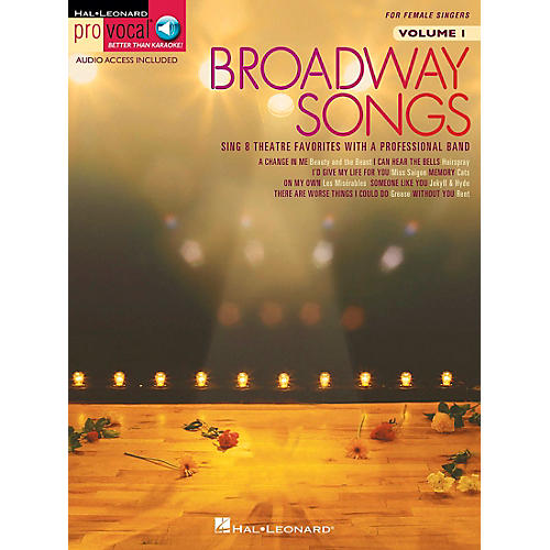 Hal Leonard Broadway Songs for Female Singers - Pro Vocal Series Volume 1 Book/CD