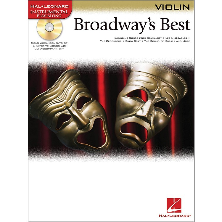 Hal Leonard Broadway's Best For Violin Book/CD