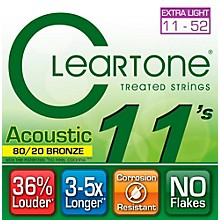 Cleartone Bronze Custom Acoustic Guitar Strings Light