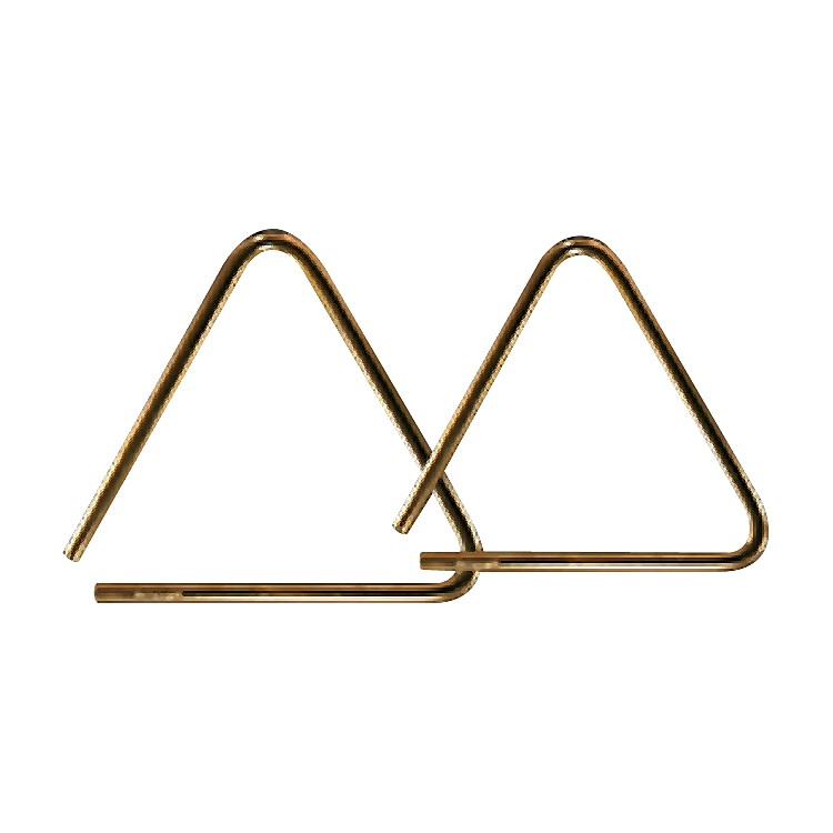 Grover Pro Bronze Pro-Hammered Triangle 6 inch