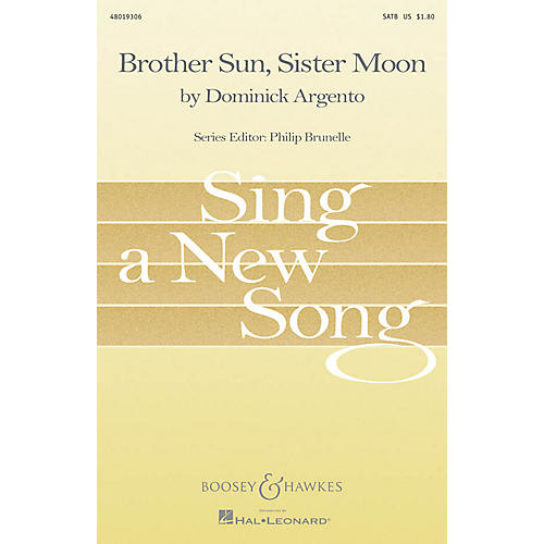 Boosey and Hawkes Brother Sun, Sister Moon SATB composed by Dominick Argento-thumbnail