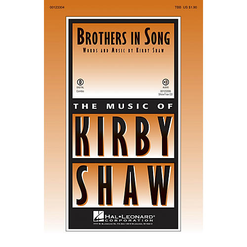 Hal Leonard Brothers In Song ShowTrax CD Composed by Kirby Shaw