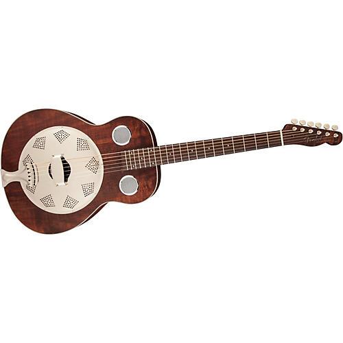 Fender Brown Derby Resonator Guitar Natural