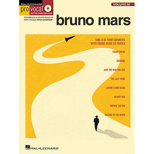 Hal Leonard Bruno Mars - Pro Vocal Songbook & CD For Male Singers Volume 58