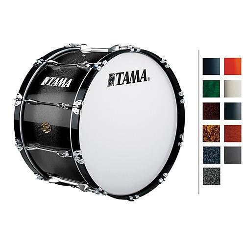 Tama Marching Bubinga/ Birch Bass Drum Titanium Silver Metallic 14x24