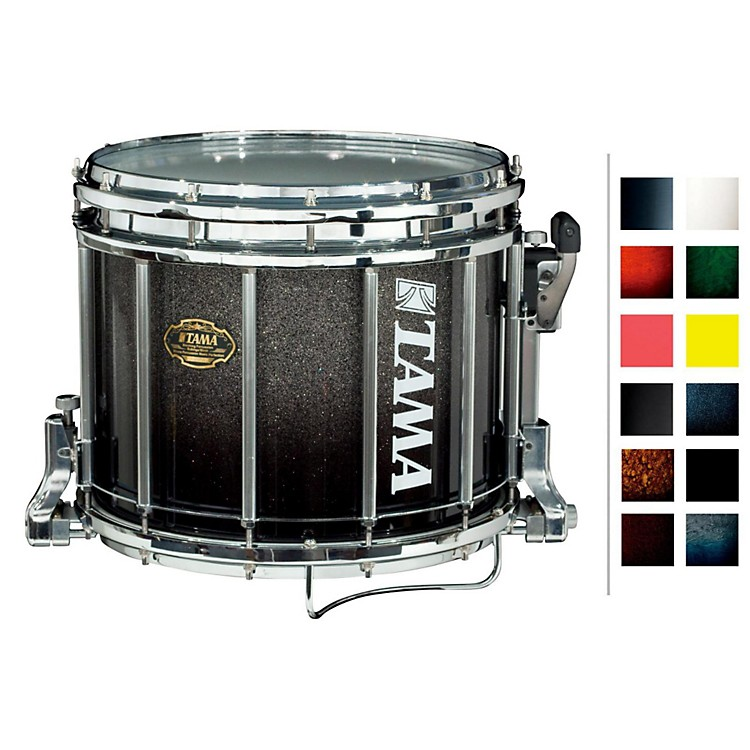 Tama MarchingBubinga/ Birch Snare DrumDark Cherry Fade12x14
