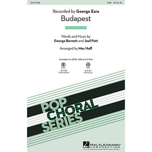 Hal Leonard Budapest SAB by George Ezra arranged by Mac Huff-thumbnail