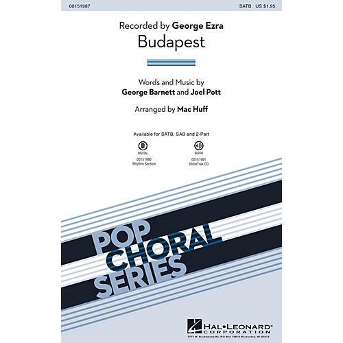 Hal Leonard Budapest ShowTrax CD by George Ezra Arranged by Mac Huff-thumbnail