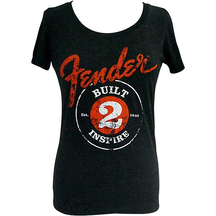 Fender Built 2 Inspire Ladies T-Shirt Black XLarge