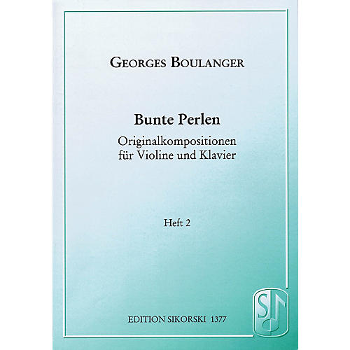 Sikorski Bunte Perlen (Multicolored Beads) String Series Softcover Composed by Georges Boulanger-thumbnail