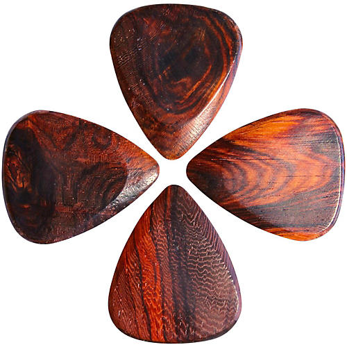 Timber Tones Burma Padauk Guitar Picks, 4-Pack-thumbnail