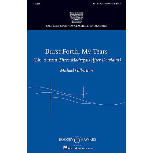 Boosey and Hawkes Burst Forth, My Tears SATB and Solo A Cappella