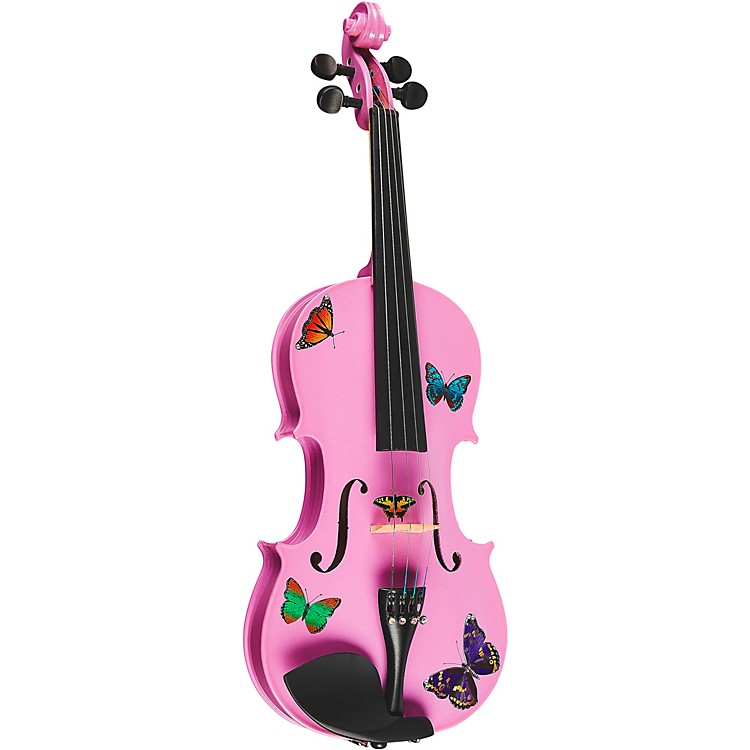 Rozanna's Violins Butterfly Dream Lavender Series Violin Outfit 4/4 Size