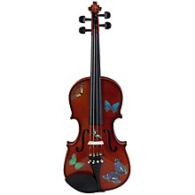 Rozanna's Violins Butterfly Dream Series Violin Outfit 1/4 Size