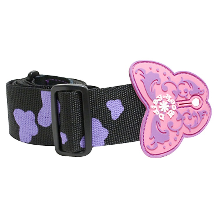 Daisy Rock Butterfly Guitar Strap - Black/Purple