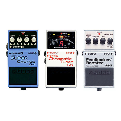 Boss Buy All 3 Herman Li Boss Pedals (CH-1, FB-2, TU-3) And Get A Free BCB30 Pedal Board