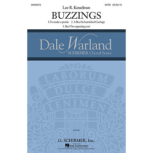 G. Schirmer Buzzings (Dale Warland Choral Series) SATB DV A Cappella composed by Lee R. Kesselman-thumbnail