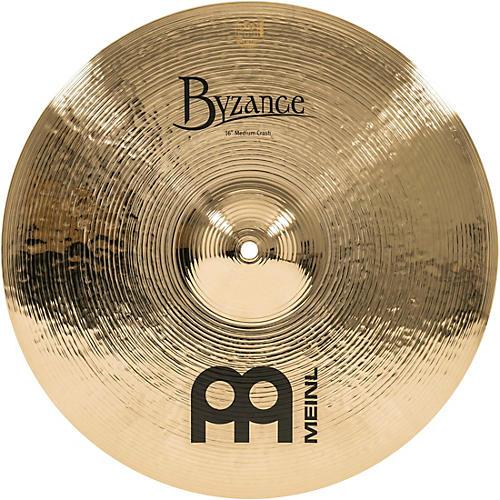 Meinl Byzance Brilliant Medium Crash Cymbal 16 in.