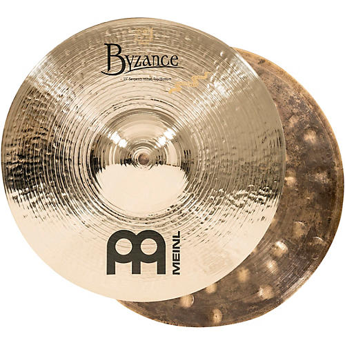 Meinl Byzance Brilliant Serpents Hi-Hat Cymbal Pair 13 Inch