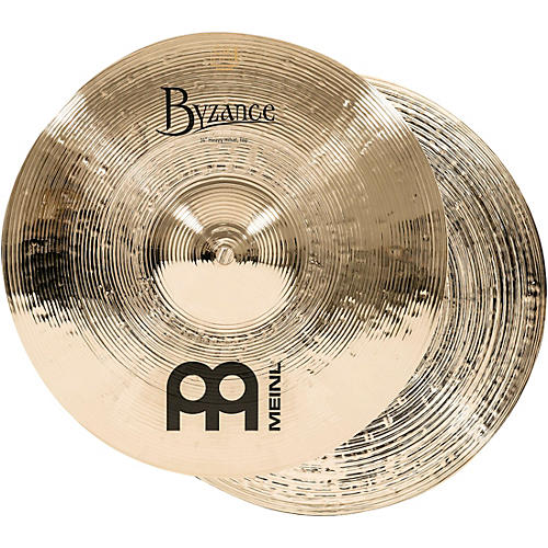 Meinl Byzance Heavy Hi-Hat Brilliant Cymbals 14 in.