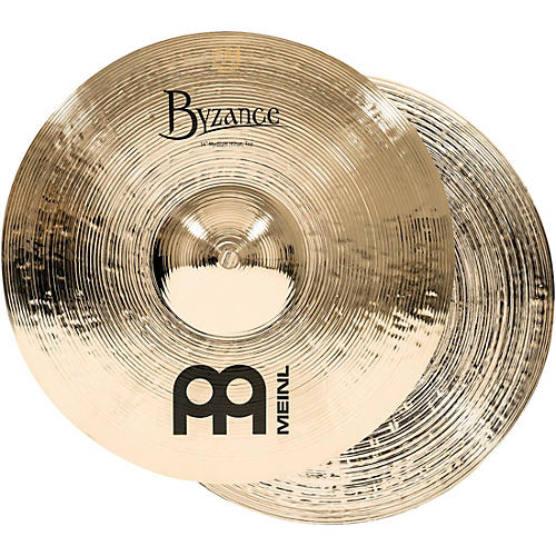 Meinl Byzance Medium Hi-Hat Brilliant Cymbals 14 in.