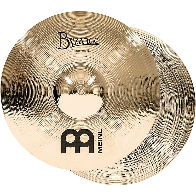 Meinl Byzance Medium Hi-Hat Brilliant Cymbals 14