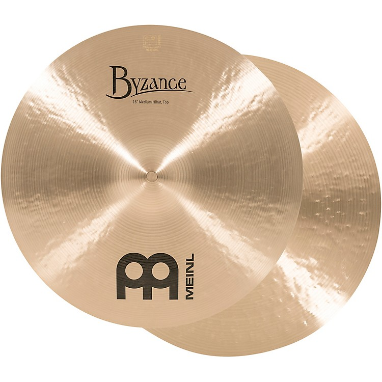 Meinl Byzance Traditional Medium Hi-Hat Cymbal Pair 16 Inch