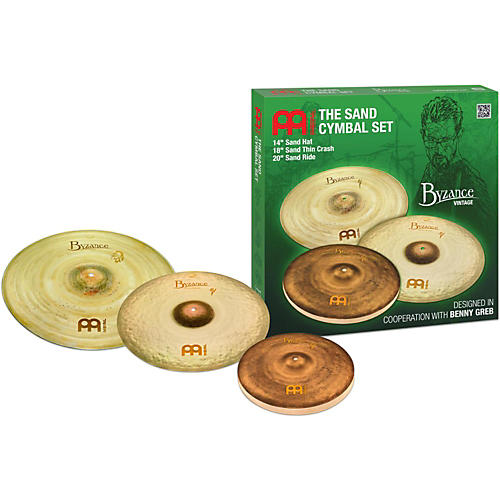 Meinl Byzance Vintage Series Benny Greb Sand Cymbal Set 14, 18, and 20 in.