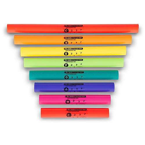 Boomwhackers C Major Diatonic Scale Set (Upper Octave) Boomwhackers Tuned Percussion Tubes-thumbnail
