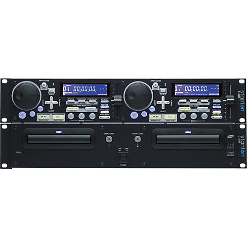 stanton dual rackmount cd player musician 39 s friend. Black Bedroom Furniture Sets. Home Design Ideas