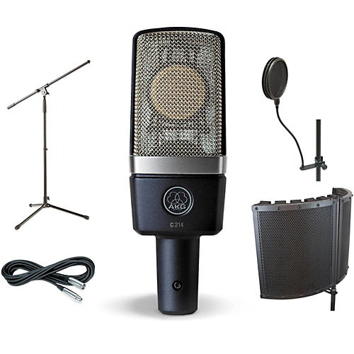 AKG C214 VS1 Stand Pop Filter and Cable Kit