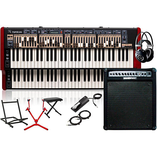 Nord C2D Combo Organ with Keyboard Amplifier, Matching Stand, Headphones, Bench, and Sustain Pedal-thumbnail