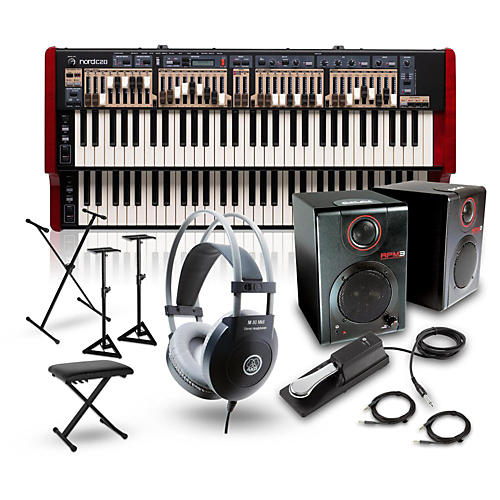 Nord C2D Combo Organ with RPM3 Monitors, Headphones, Bench, Stand and Sustain Pedal-thumbnail