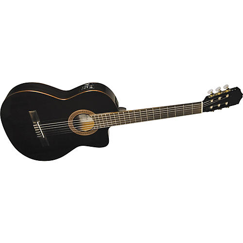 Cordoba C5-CETBK Thinbody Classical Acoustic-Electric Guitar Black