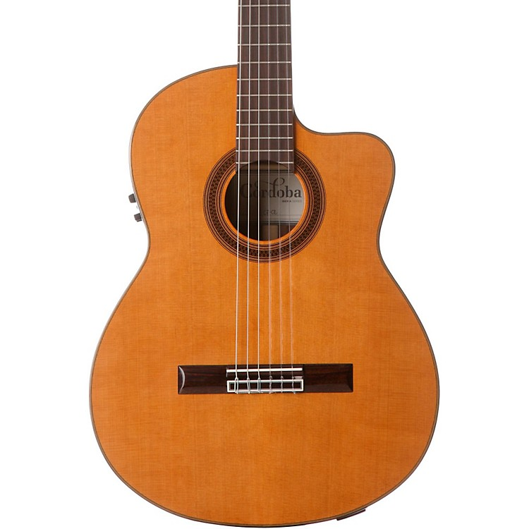Cordoba C7-CE CD/IN Acoustic-Electric Nylon String Classical Guitar Natural