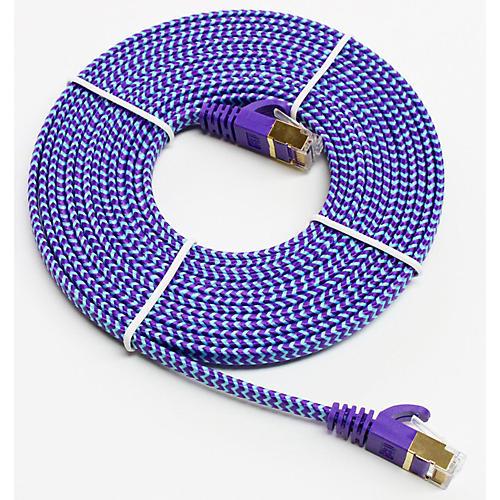 Flat Braided Cable : Tera grand cat gigabit ultra flat ethernet patch