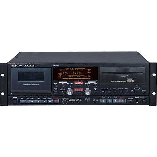 Tascam CC-222SL Pro CD/Cassette Recorder with MP3 Playback-thumbnail