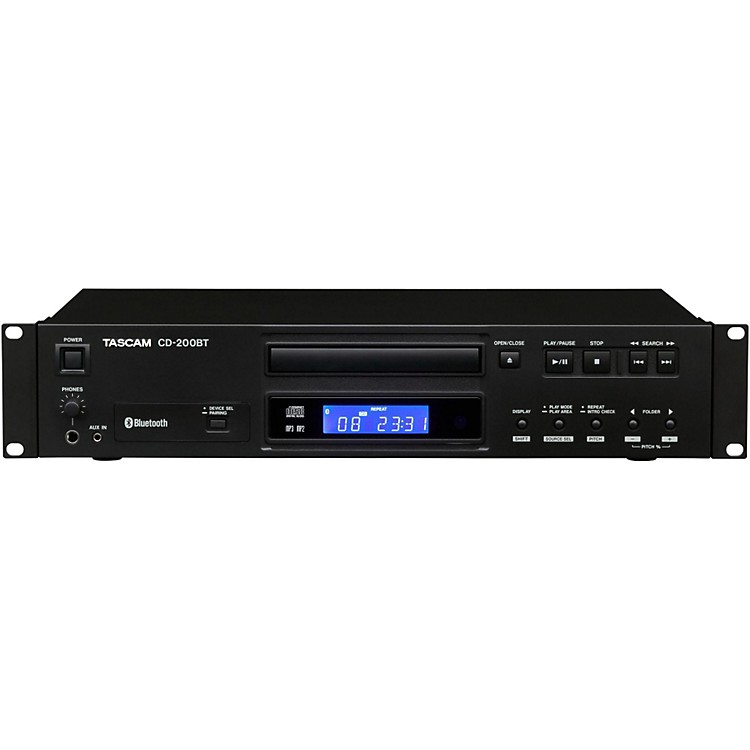 tascam cd 200bt professional cd player with bluetooth receiver musician 39 s friend. Black Bedroom Furniture Sets. Home Design Ideas