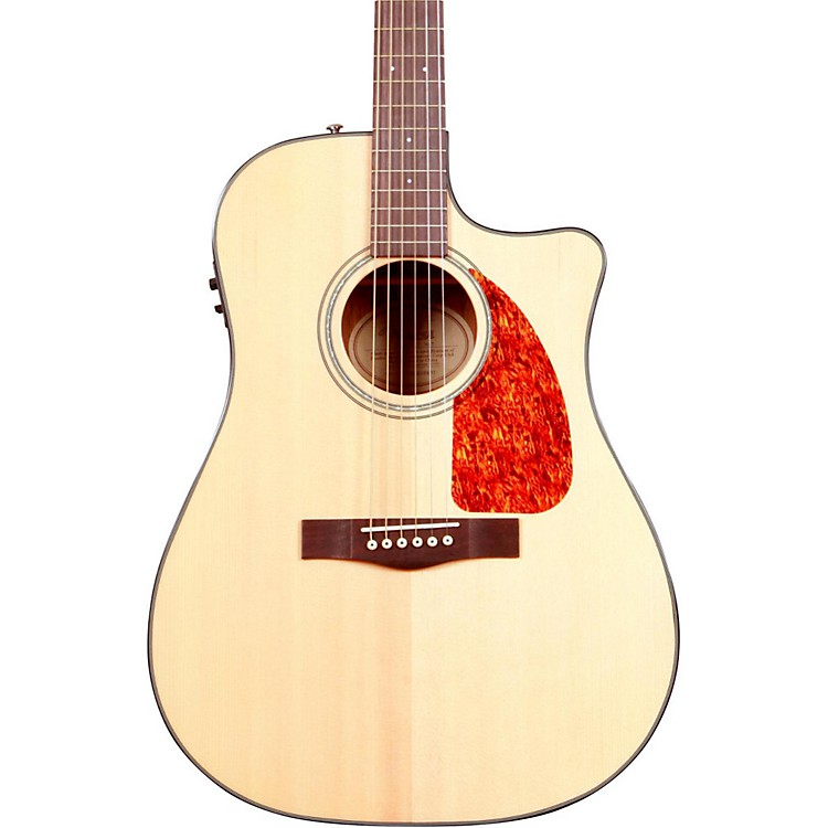 Fender CD 280SCE Dreadnought Cutaway Acoustic-Electric Guitar Natural