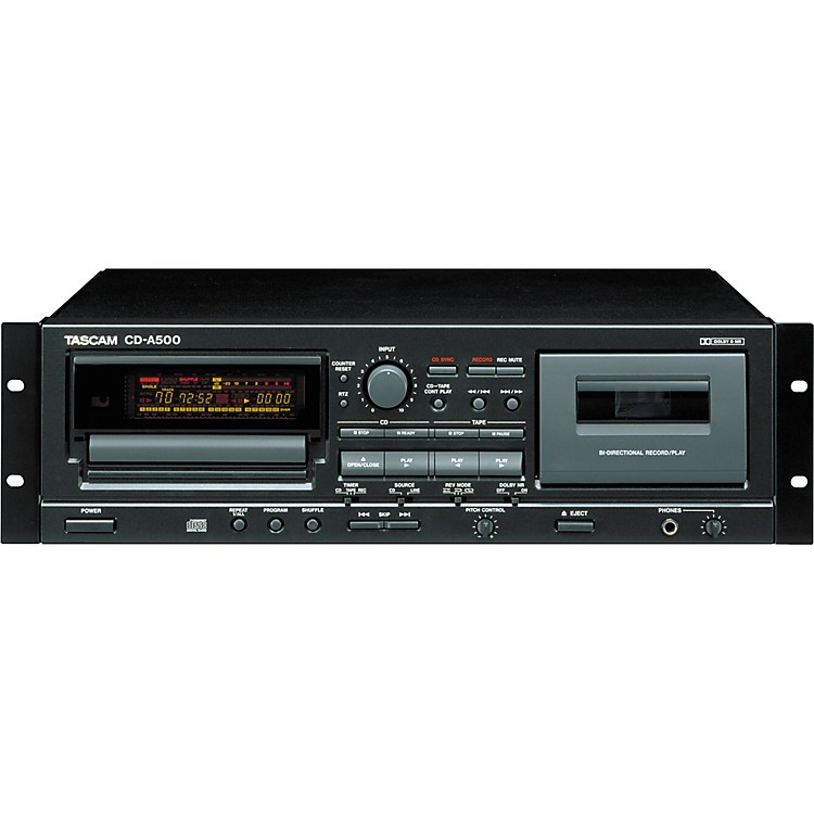 TASCAM CD-A500 Rackmount CD/Cassette Player