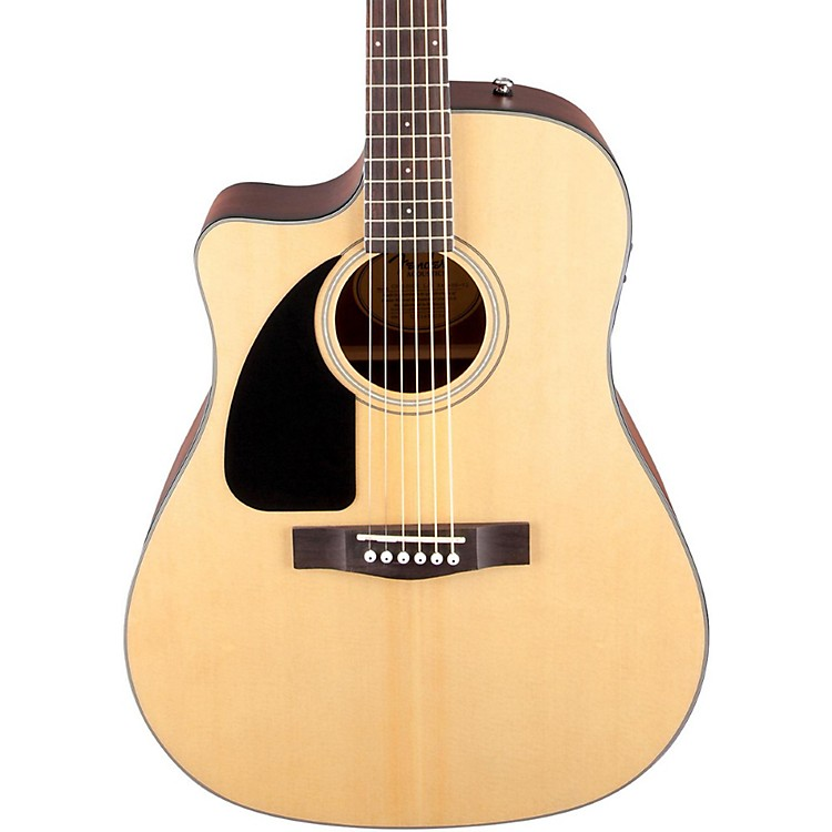 Fender CD100 CE Left-Handed Cutaway Acoustic-Electric Guitar Natural