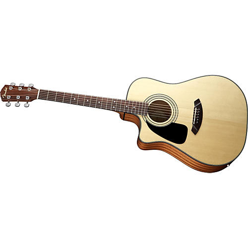 Fender CD100CE Left-Handed Cutaway Dreadnought Acoustic-Electric Guitar